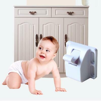 Invisible Magnetic Baby Kids Pet Proof Cupboard Door Drawer Safety Locks Catch