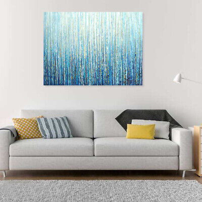 Abstract Hand Painted Art Canvas Oil Painting Modern Home Decor Framed Forest