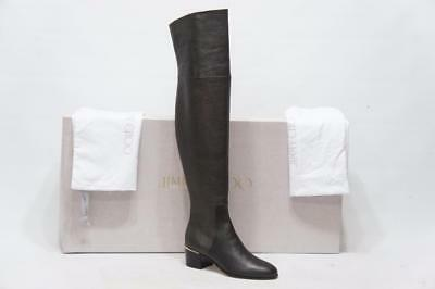 33f1ef336ce Jimmy Choo Harmony 45 Metallic Leather Over The Knee Boots Shoes 36 5.5   1495