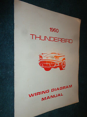 1960 ford thunderbird wiring diagram shop manual / useful t-bird book