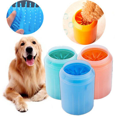 Portable Dog Paw Cleaner Pet Cleaning Brush Cup Dog Foot Cleaner Feet Washer HA