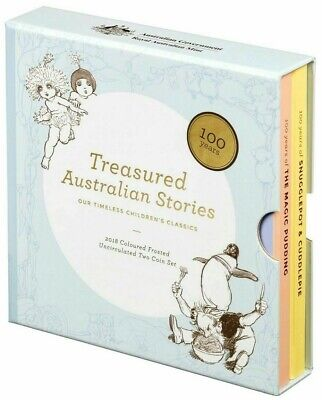 2018 $1 SNUGGLEPOT & CUDDLEPIE AND THE MAGIC PUDDING COIN SET Treasured Stories