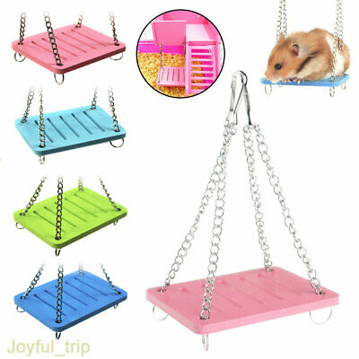 Cute Lovely Hamster Parrot Small Swing Hanging Bed Shake Suspension Pet Toy UK