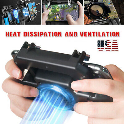 Mobile Phone Games Controller Joystick Cooling Fan Gamepad for PUBG Android IOS