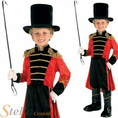 Boys Ringmaster Circus Kids Child Book Week Fancy Dress Costume Outfit
