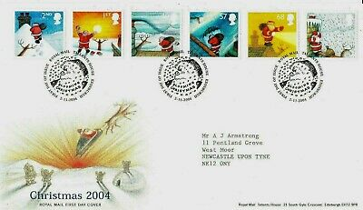2004 CHRISTMAS Stamps SET 6v First Day Cover TALLENTS Postmark REF:C119