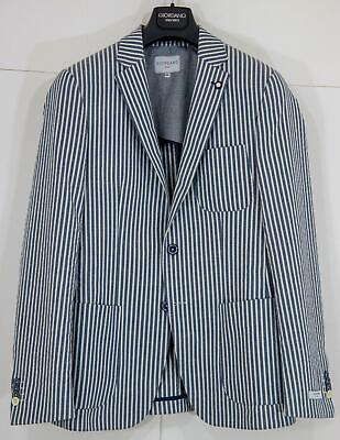 Giordano Jacket - Giordano Men's V912602 Mitchell Seersucker Blazer Navy/White