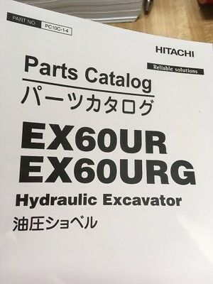 HITACHI EX60UR EX60URG Excavator PARTS Manual Book PC10C14 PC10C13 2 IN 1  VOLUME