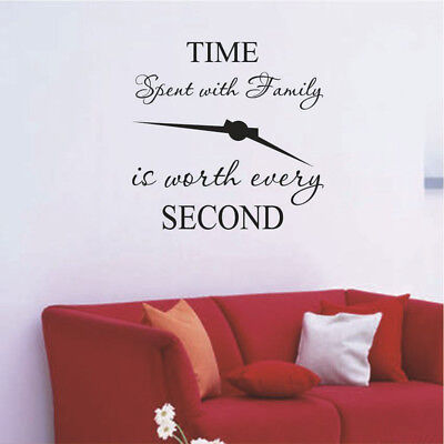 1pc time spent with family is worth every second art wall stickers home decal SF