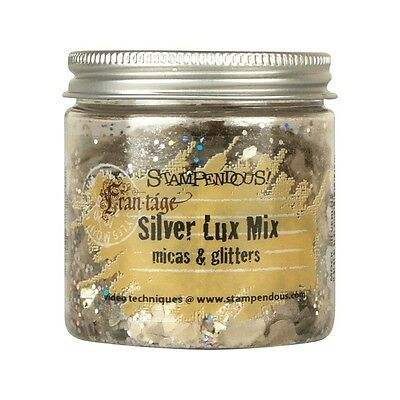 Stampendous Micas & Glitters Lux Mix 1.27oz - Silver (CLEARANCE ITEM)