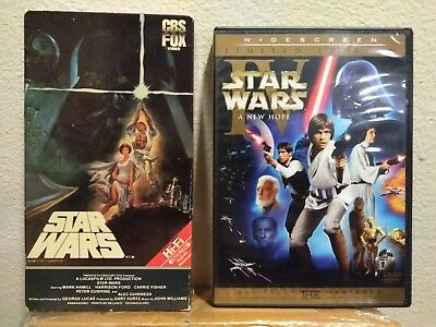 Star Wars Episode VI A New Hope Vhs 1984 And Limited Edition 2006 DVD 2 Disc