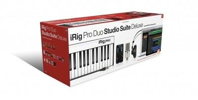 IK Multimedia iRig Pro Duo Studio Suite Deluxe Interface Headphones Microphone