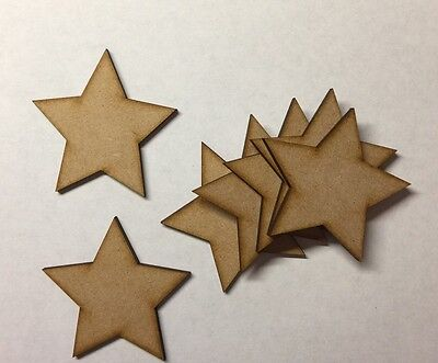Wooden 100mm Stars Shape Craft Blanks, laser cut Wedding,Guestbook,Decoupage mdf