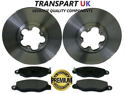 Ford Transit 06-2.2 TDCi FWD Box 84 Front Brake Pads Discs 280mm Vented