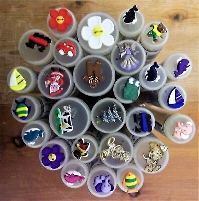 job lot dill buttons  assorted animals character buttons resell shop market.