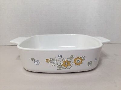 Vintage Corning Ware Floral Bouquet Daisy Casserole Dish A-1-B No Lid
