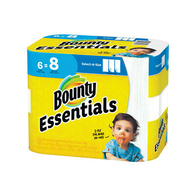 Bounty 74651 Essentials Select-A-Size Paper Towels, White