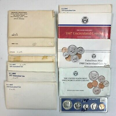 Lot Of (12) 1968-1989 U.s. Mint Sets!  Uncirculated Condition! Nr!