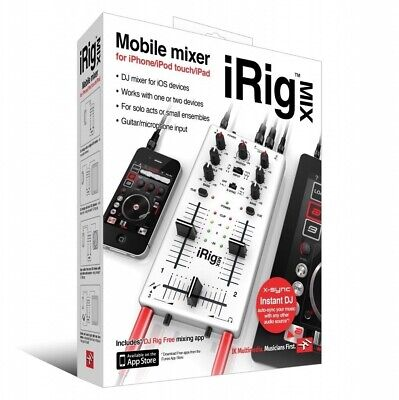 IK Multimedia iRig Mix DJ Mixer for iPhone, iPad Touch, and iPad New