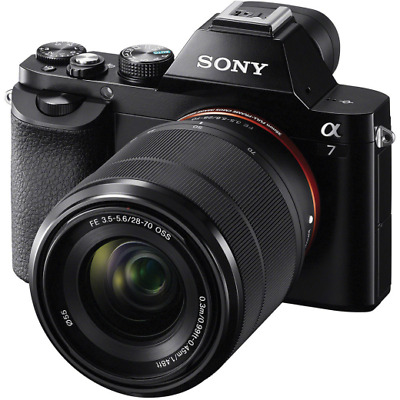 A - Sony Alpha A7 Full Frame Digital Camera with 28-70mm Lens