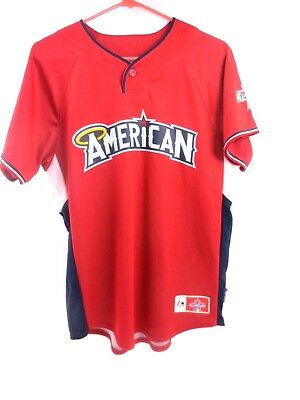 7d3a018adb3 AMERICAN LEAGUE 2010 MLB ALL STAR GAME JERSEY Logo Majestic Baseball Youth  XL