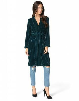 432674a88e3 NWT Cupcakes and Cashmere Forest Green Velvet Duster Jacket - Women s Large
