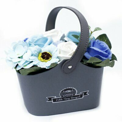 Blue Soap Flower Baskets / Mother's Day / Easter / Gift / Fast Free delivery
