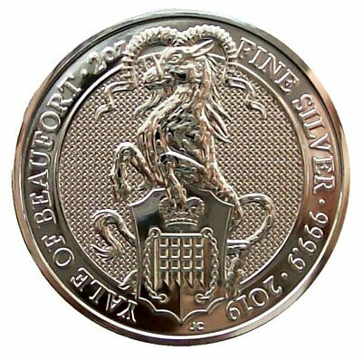 ++ Queens Beast - Yale of Beaufort 2019 - 2oz Silber / Ag ++