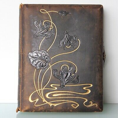 Art Nouveau floral photo book album.