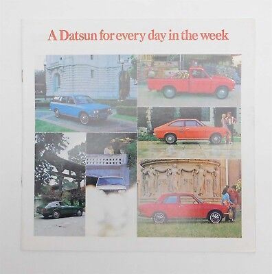 1971 A DATSUN for Every Day of the Week BROCHURE Coupe Sedan Wagon Pickup 240-Z