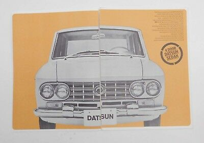 1963 THE NEW DATSUN Sales Brochure SPL-310 1500 Sedan Wagon Pickup Cedric Patrol