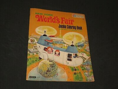 Vintage New York World's Fair Jumbo Coloring Book 1964-1965 Ford Motor (Q664)