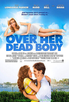 OVER HER DEAD BODY MOVIE POSTER DS 27x40 One Sheet EVA LONGORIA PARKER PAUL RUDD