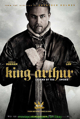 KING ARTHUR :Legend Of The Sword MOVIE POSTER DS Final 27x40 CHARLIE HUNNAM 2017