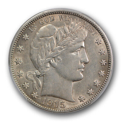 1915 50C Barber Half Dollar PCGS AU 53 About Uncirculated Tough Grade