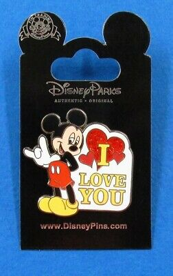 Disney Trading Pin Mickey Mouse - Sign Language - I Love You