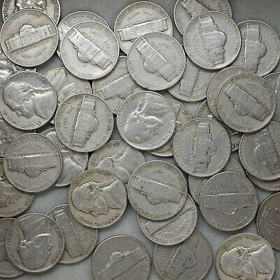 CIRCULATED COINS CHECK OUT STORE 1949-D JEFFERSON NICKEL ROLL 40 COINS