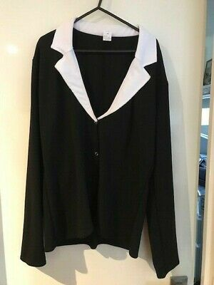 A wish come true 14560 Medium Adult black jacket with white collar