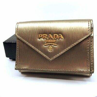 04e6d08fb5cf Prada Portafoglio Verticale Cipria Mordore Vitello Move Leather Wallet  1MH021