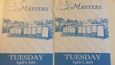 2 Masters Tuesday 4/9 practice tickets in hand, ready to deliver free.