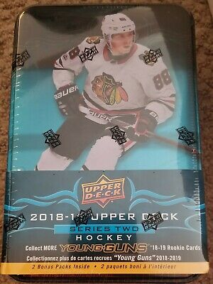 2018-19 upper deck hockey NHL series 2 tin 12 packs factory sealed