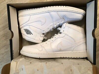 low priced 31cea 1bff6 Nike Air Jordan 1 Mid - White White Cool Grey - 554724-102