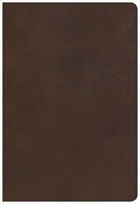 KJV Giant Print Reference Bible, Brown Genuine Leather 9781535905206