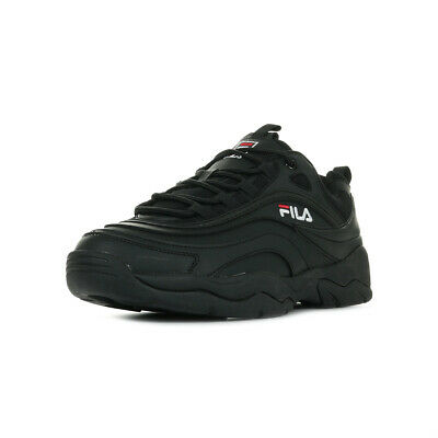 Fila Homme Ray Low Synthétique Noir Noire Chaussures Baskets Taille 6gyfb7