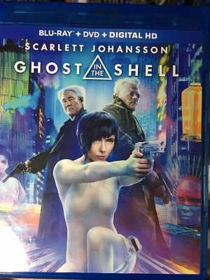 Ghost in the Shell (2017) Blu-Ray No DVD/Digital/Slip Like New FREE Combine SHIP