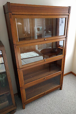 Antique GRM Stacking Barristers Bookcase Tiger Oak PG&E Co.