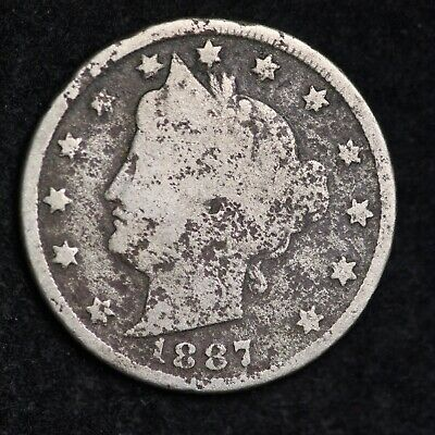 1887 Liberty V Nickel With Cents Free Shipping