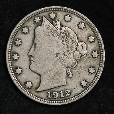 Xf Full Liberty 1912 Liberty V Nickel With Cents Free Shipping