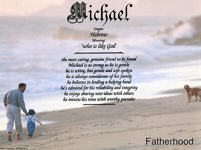 Father Dad Fatherhood Name Meaning Prints (12 Backgrounds) Personalized