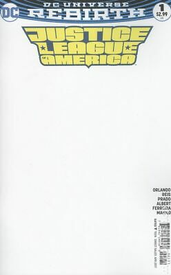 Justice League of America #1 2017 Blank Variant NM Stock Image